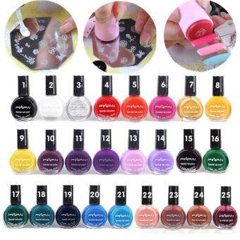 10ML 25Color Painting Template Stamping Nail Art Manicure VarnishPolish Lacquer