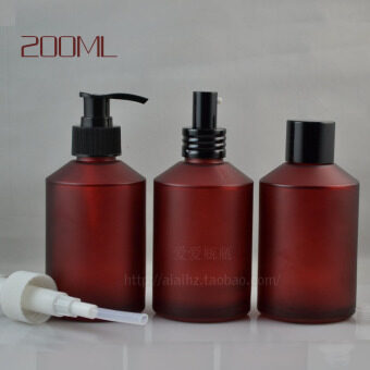 200ML Rose Red matte spray glass flower water bottle with pressurepump head lotion bottle fine mist spray packing bottle