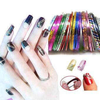 30pcs Mixed Colors Nail Rolls Striping Tape Line Nail Art Tips Sticker