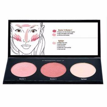 Blusher & Highlight Palette (01 Pinky)