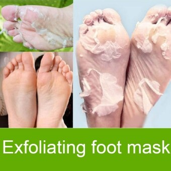 Cyber Exfoliating Foot Peeling Renewal Mask Remove Hard Dead Skin Cuticle Heel 1 Pair ( White )
