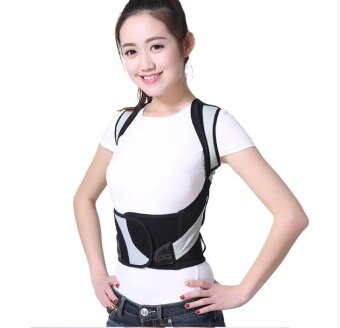 M-Waist 58-65cm Unisex Adjustable Back Posture Corrector Brace BackShoulder Support Belt Posture Correction Belt for Men Women Belt