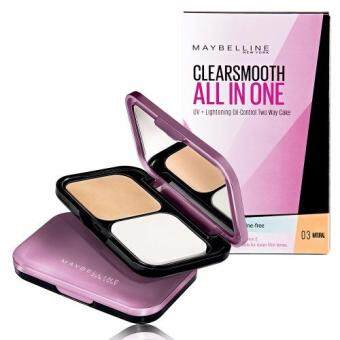 Maybelline Clear Smooth All-in-One UV-Lightening Oil-Control Two Way Cake 03 Natural