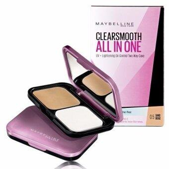 Maybelline Clear Smooth All-in-One UV-Lightening Oil-Control Two Way Cake 05 Sand Beige