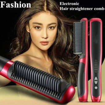 Newest Hot 39W Electronic Hair Straightener Ceramic Ionic FlatInstant Magic Comb Hair Brush