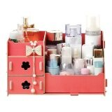 SOKANO DIY Wooden 215 Cosmetic Organizer (Red)