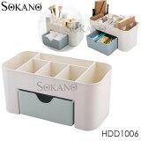 SOKANO HDD1006 Japanese Style Cosmetic and Table Top Organizer With Drawer - Blue