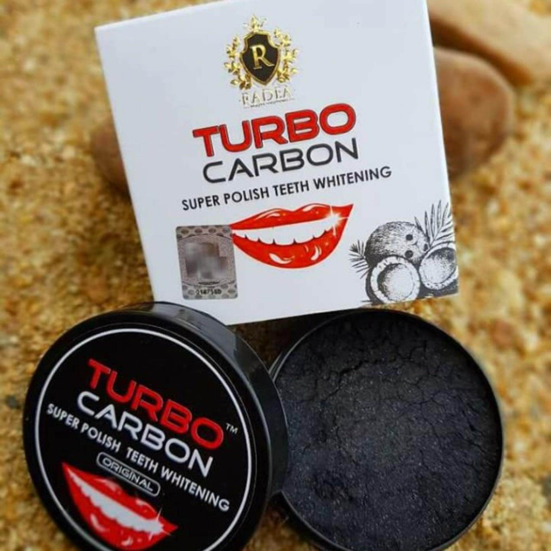 TURBO CARBON Super Polish Teeth Whitening by RADEA Original!