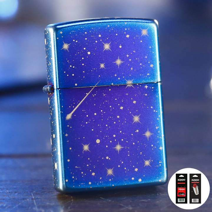 Graffiti Christmas Light Up Stars Zippo Lighter - Free Zippo Flints & Wick