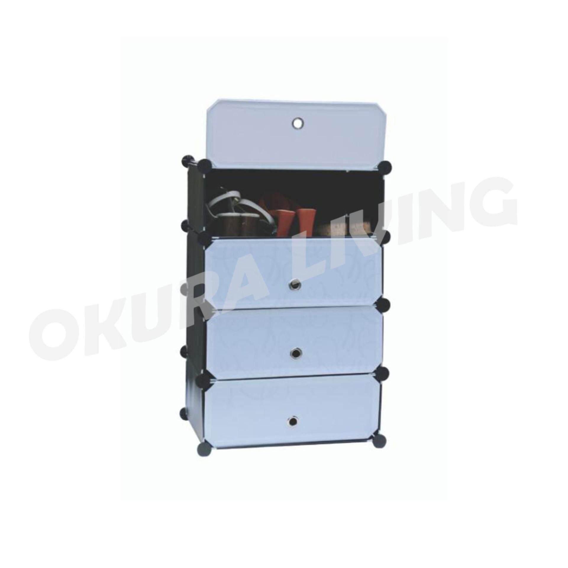 Okura 4 Tier Modern Portable Shoe Cabinet