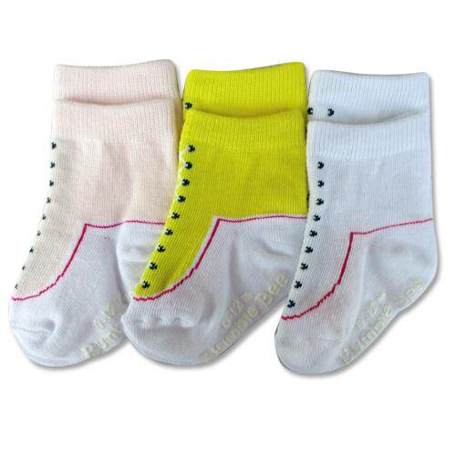 Bumble Bee 3 Pairs Pack Girl Shoelike Socks