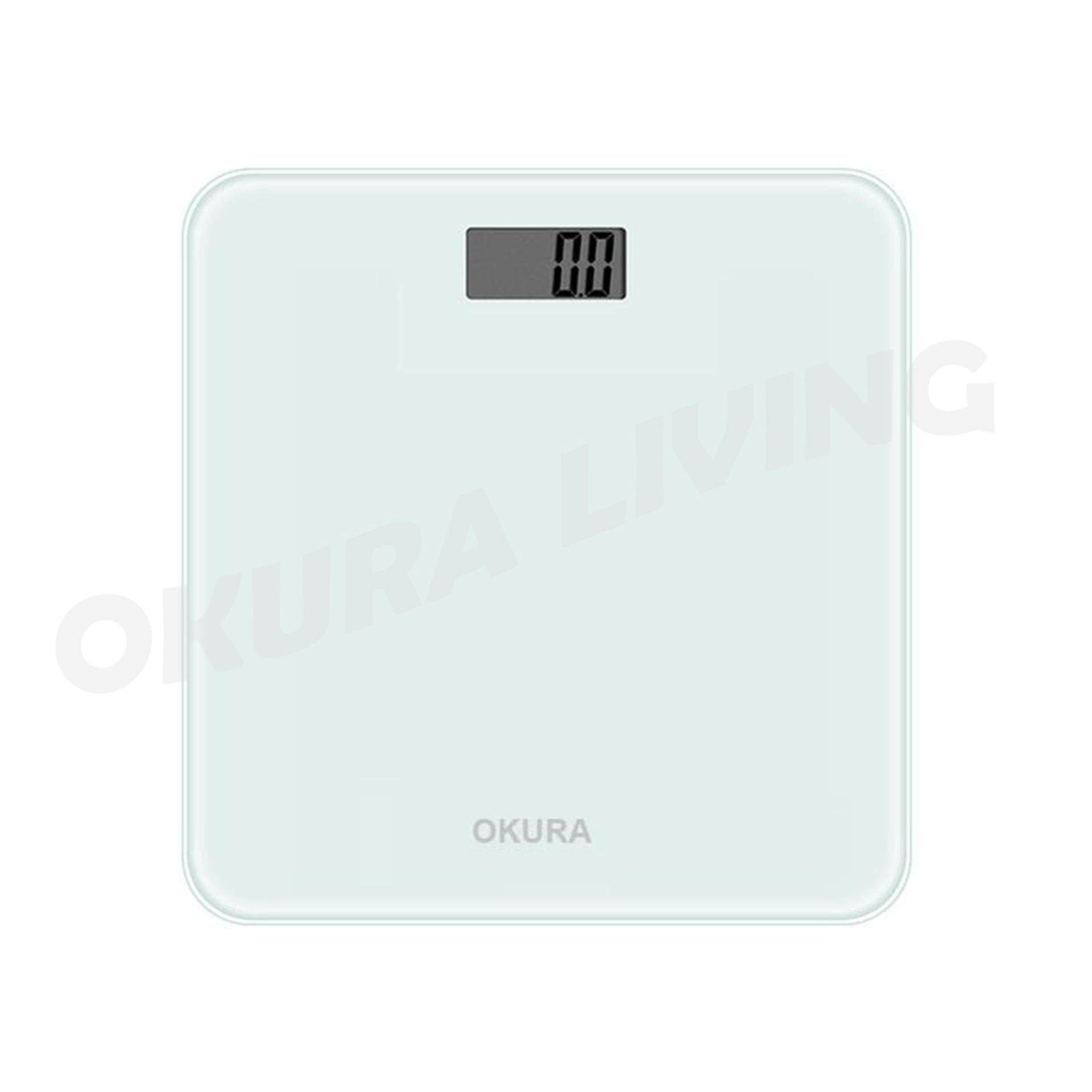 OKURA 28cm Personal Digital Weighing Scale LED Screen With Room Temperature