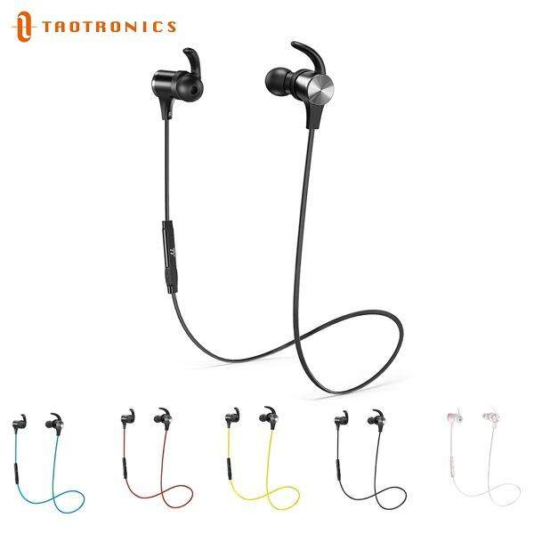 TaoTronics BH07 Pair 2 Device, IPX6 Waterproof, aptX Stereo, 9 Hours Playtime Bluetooth Sport Earphones Headphones Earbuds TT-BH07 Wireless 5.0 Magnetic Earbuds Snug Fit for Sports with Built in Mic