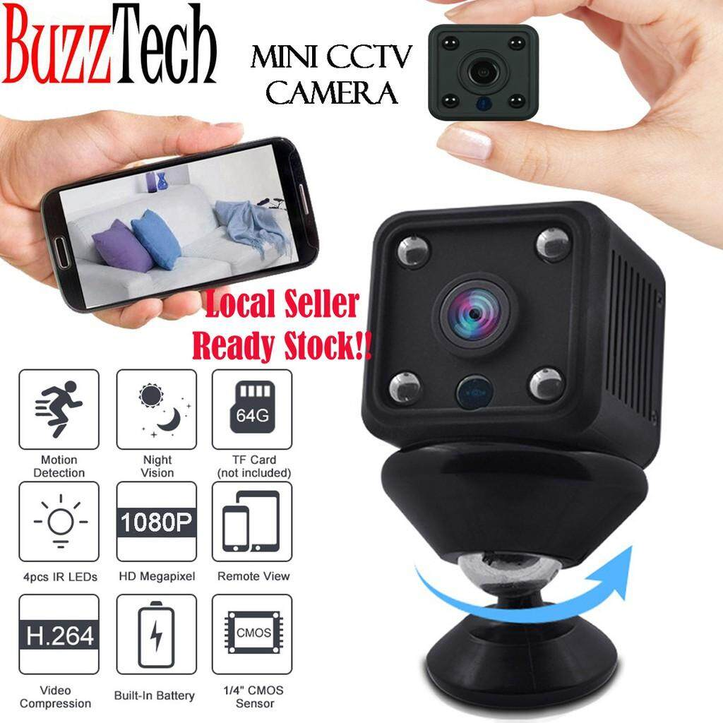 BuzzTech Wireless WiFi 1080P HD Mini CCTV IP Camera Spy Hidden Camera