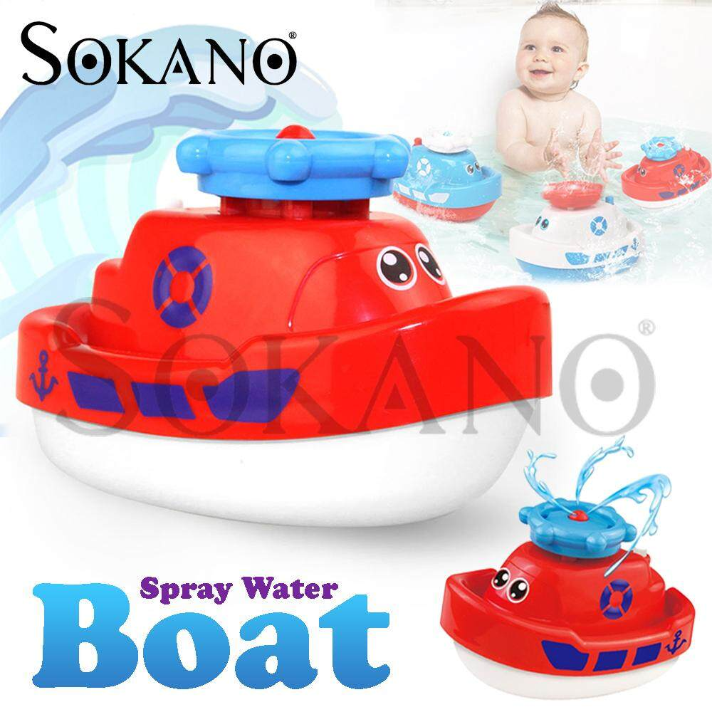 SOKANO TOY SL87002 Spray Water Boat Bathroom Toy Bath Toy Shower Toy For Kids Alat Mainan Mandi Toys for boys