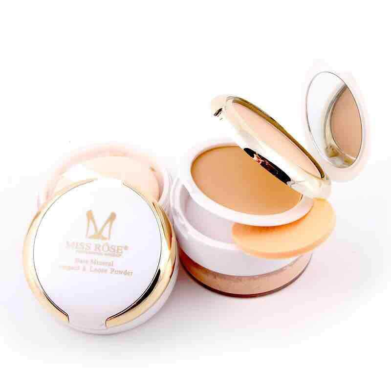 Miss Rose 3D Pearl Whitening Compact & Loose Powder
