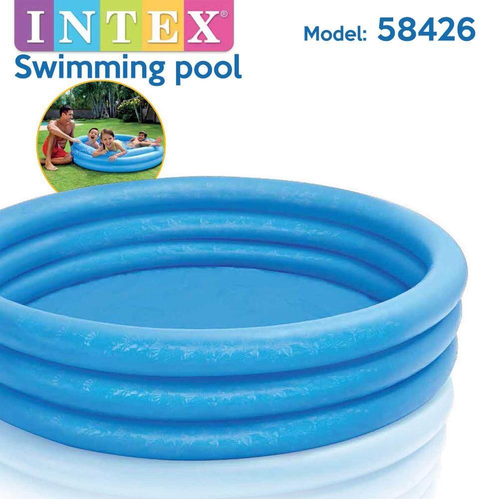 INTEX 58426 Blue 4 Rings Swimming Pool Baby Swimming Pool Kids Pool Kolam Renang Kanak-Kanak (147cm x 33cm) Toys for boys