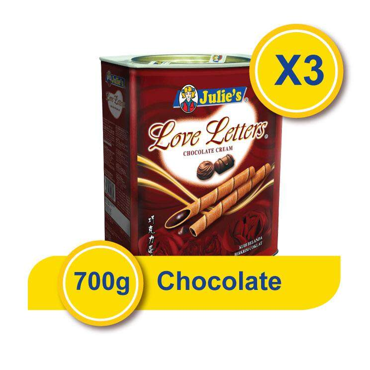 Julie's Love Letters Chocolate Flavor x 3Tin