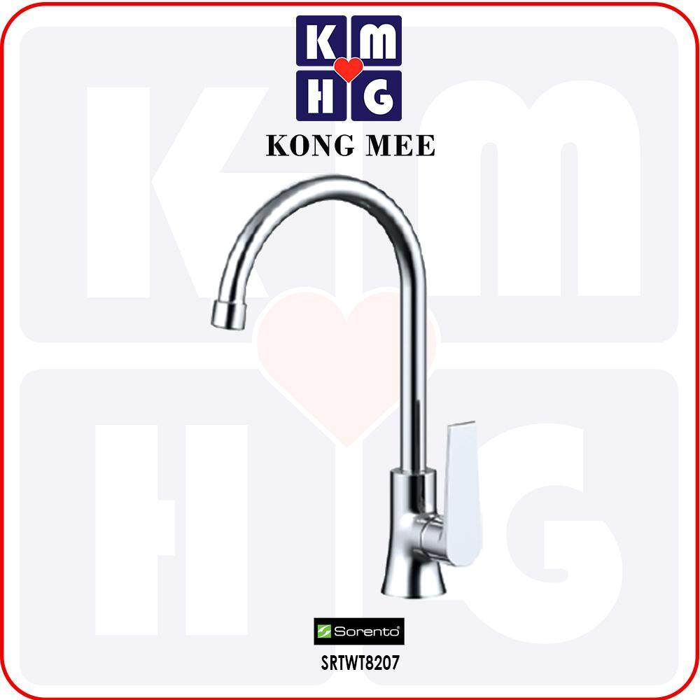 Sorento Italy - Hera 8200 Series Pillar Mounted Kitchen Sink Cold Tap (SRTWT8207) Cold Water Only Kitchen Top Counter Basin Faucet Aesthetic Modern Luxury Restaurant Home Kitchen Wash Dishes Water Soap Faucet Cleaning Pipe Eating Food Cook
