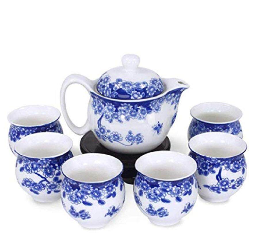 Chinese Ceramic Double Layer Tea Pot Set - Butterfly