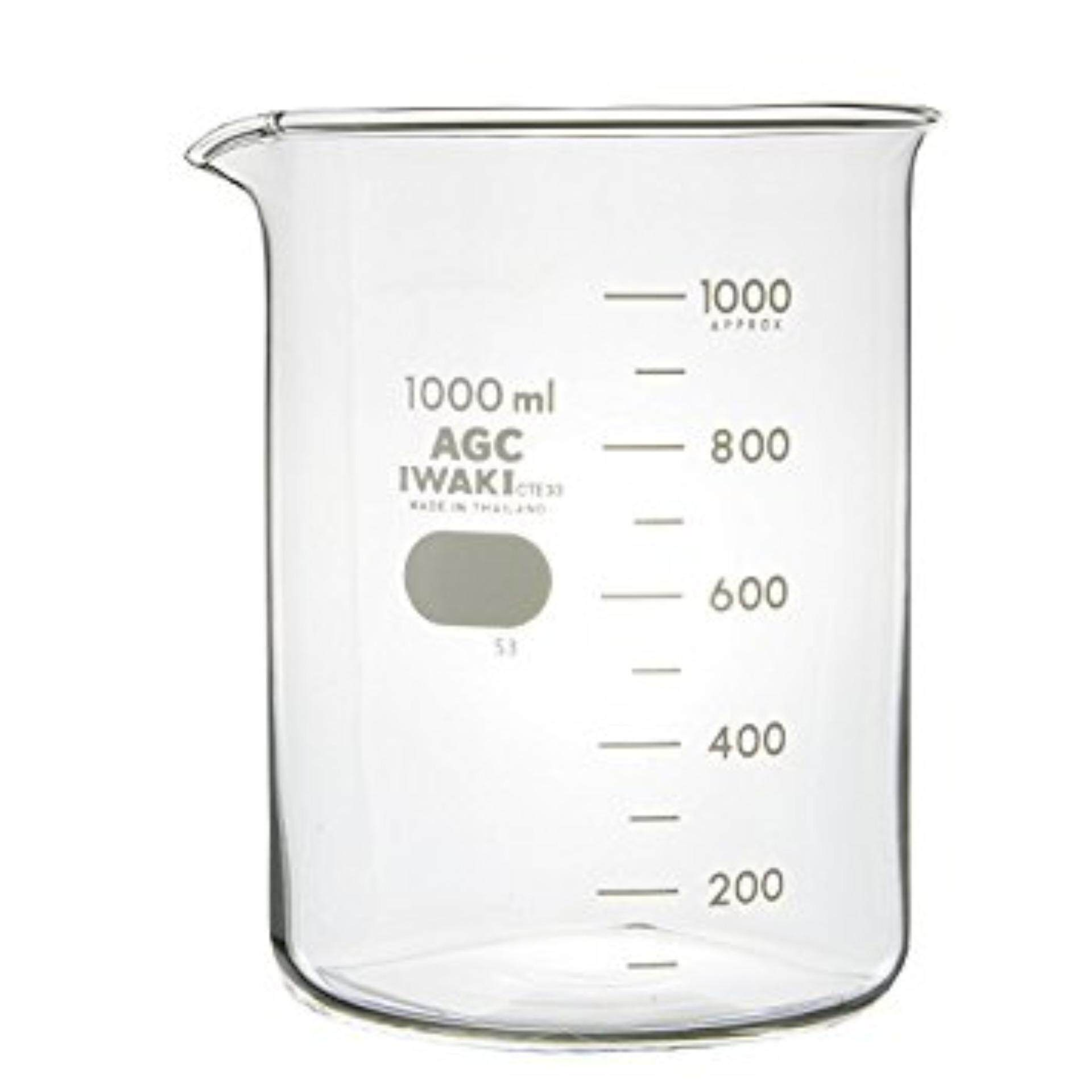 IWAKI 1000ml Glass Beaker Low Form Laboratory use