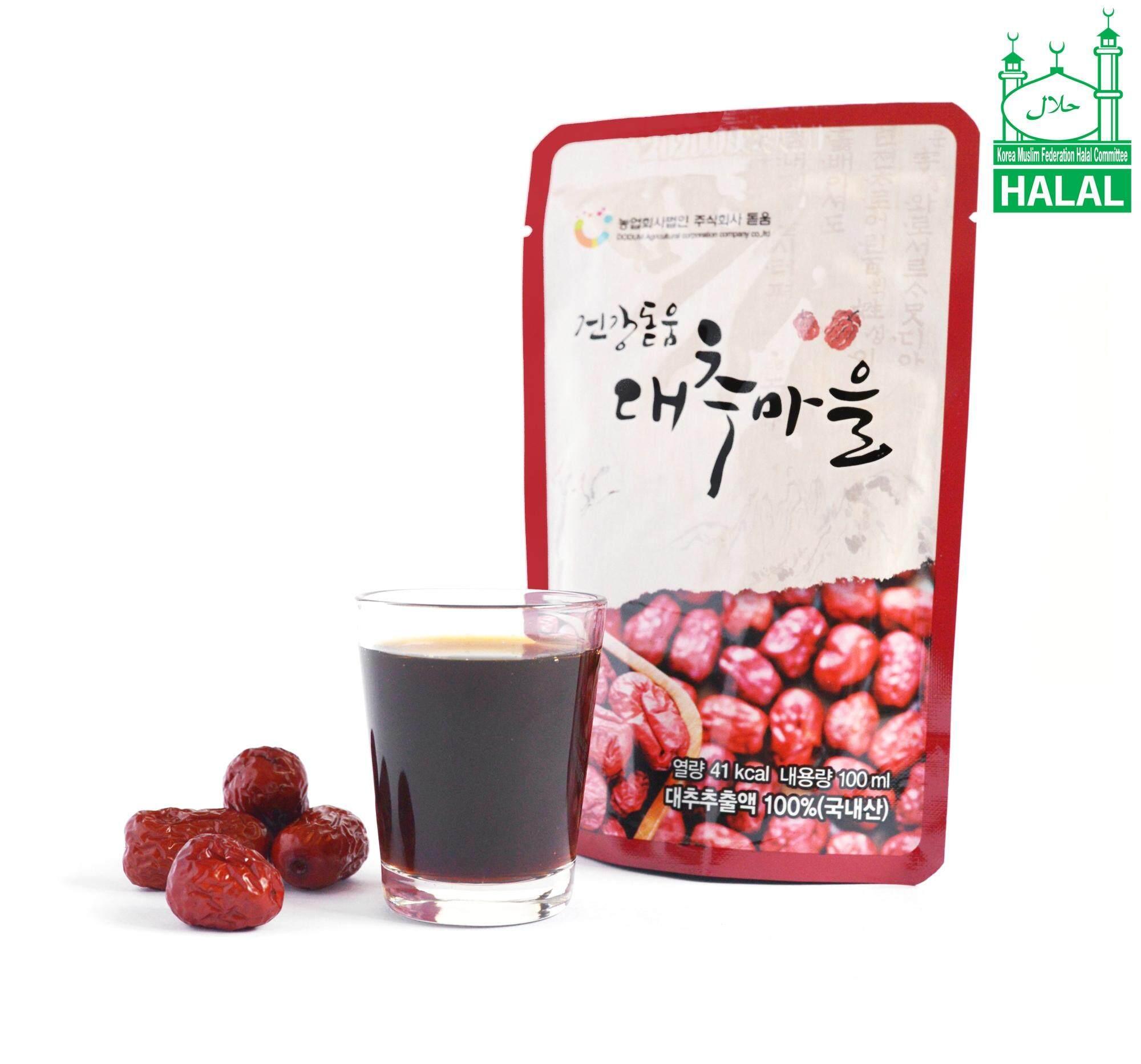 100% Pure Premium Dodum Korean Red Dates Juice/ Jujube Juice/ Jujube Tea 100ml