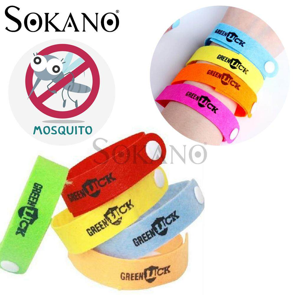 SOKANO Green Luck Mosquito Insect Repellent Wrist Band (Buy 10 Free Shipping) Random Colour