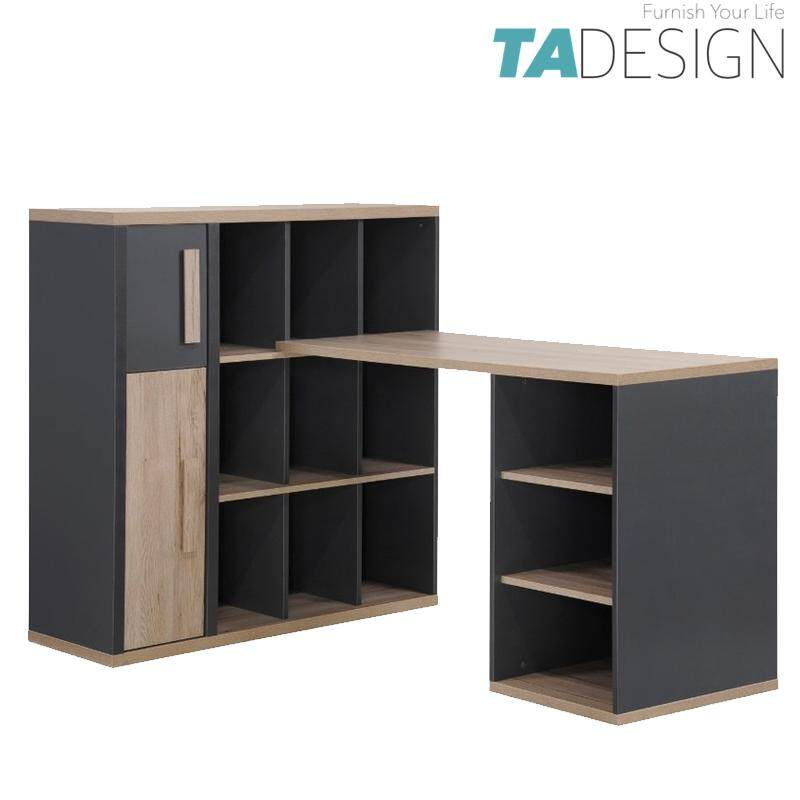 TAD KOBI study desk with bookshelf cabinet