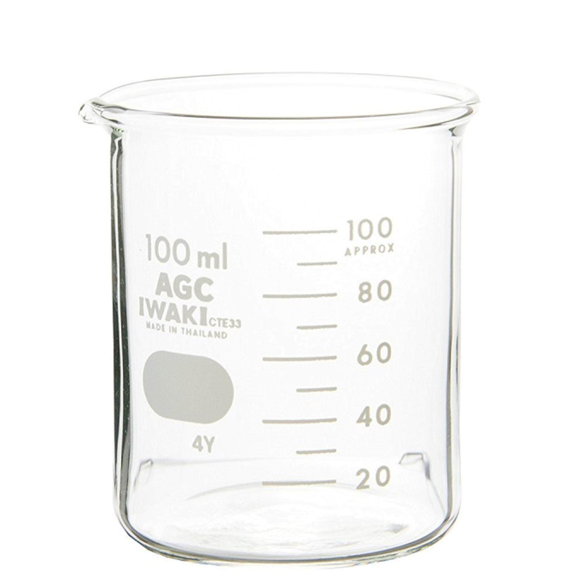 IWAKI Pyrex 100ml Glass Beaker Low Form Laboratory Use