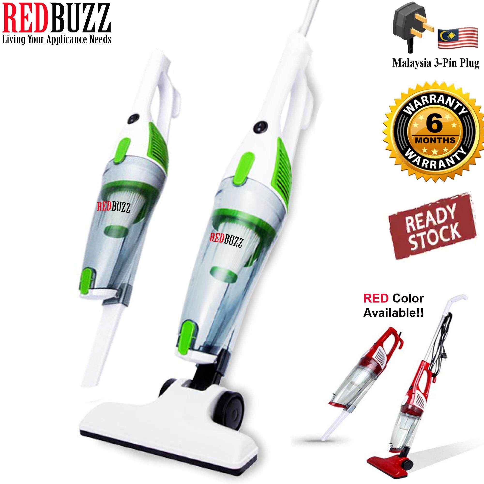 REDBUZZ 2in1 Powerful Suction 600W S1007 Portable Handheld Vacuum Cleaner (Green) + 3 Pcs Nozzle Brush (Optional)