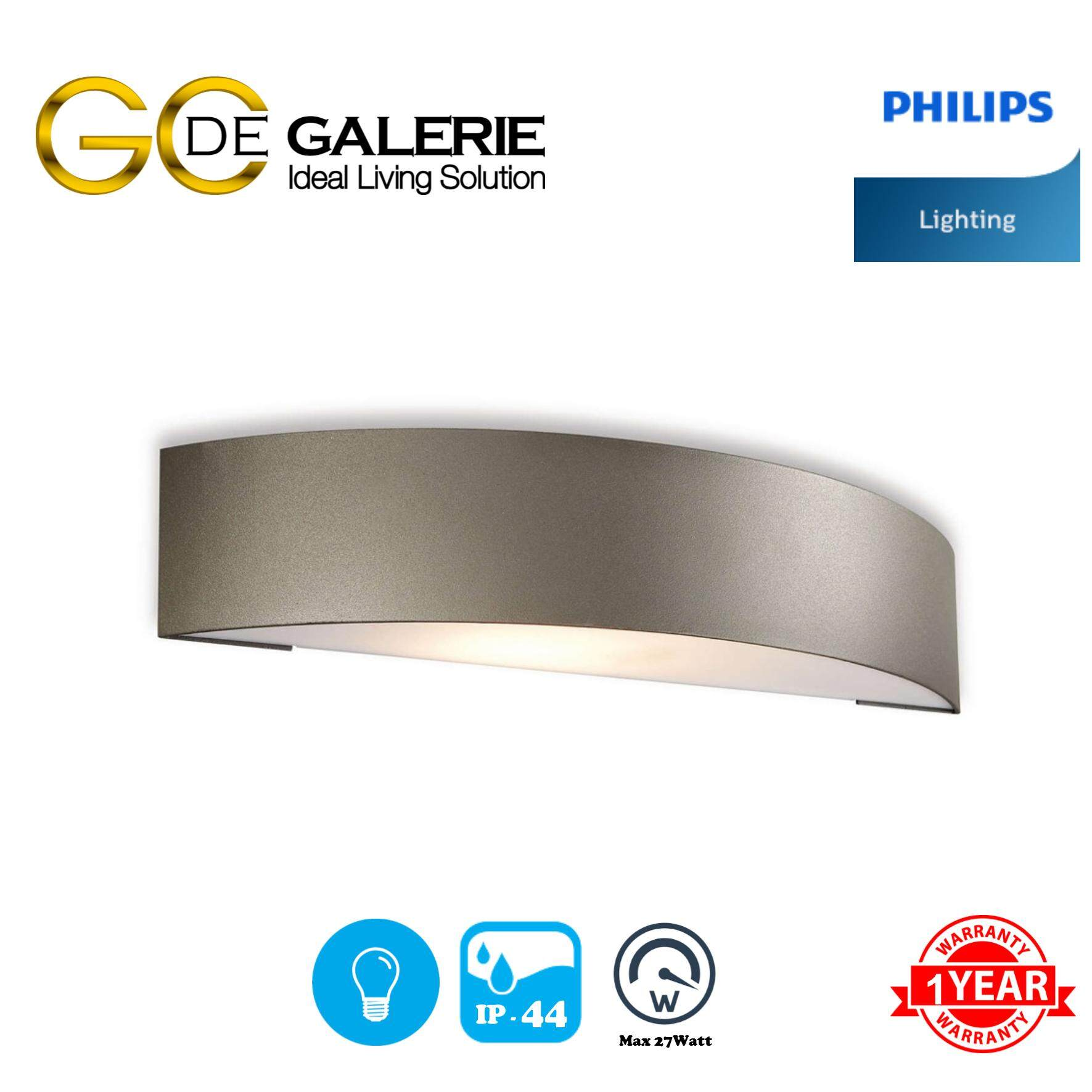 WALL LIGHT OUTDOOR PHILIPS 17130/93/46 EWP300 DGY 1x27W