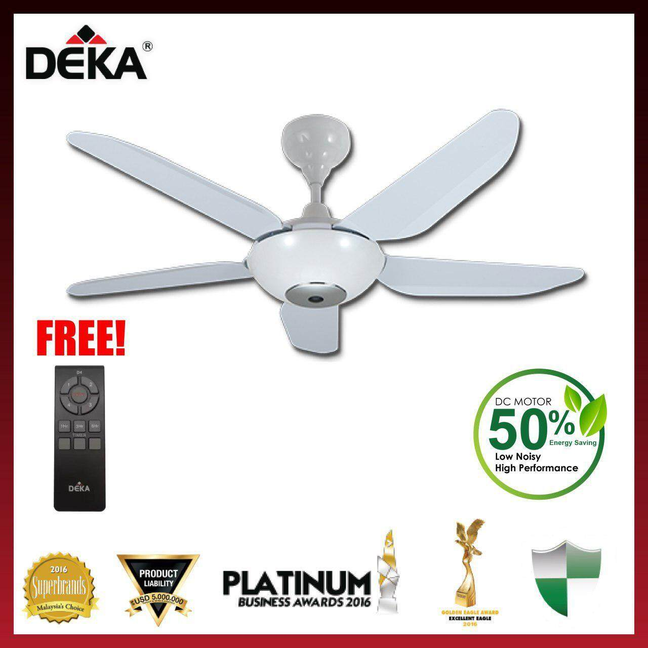 DEKA BABY 6N 46  Ceiling Fan with Remote Control Gun Metal / White Color