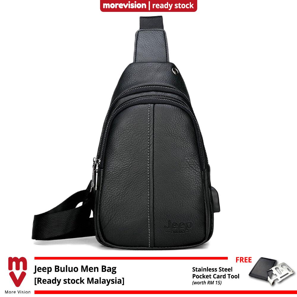 Jeep Buluo Sling Bag Chest Beg New Casual Crossbody Bag Shoulder Beg Waterproof for Men MI5891