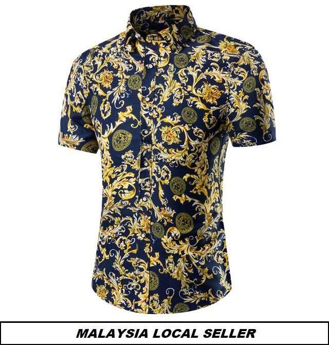 Kemeja Batik Lelaki Kemeja Bunga Shirt Batik Code-24