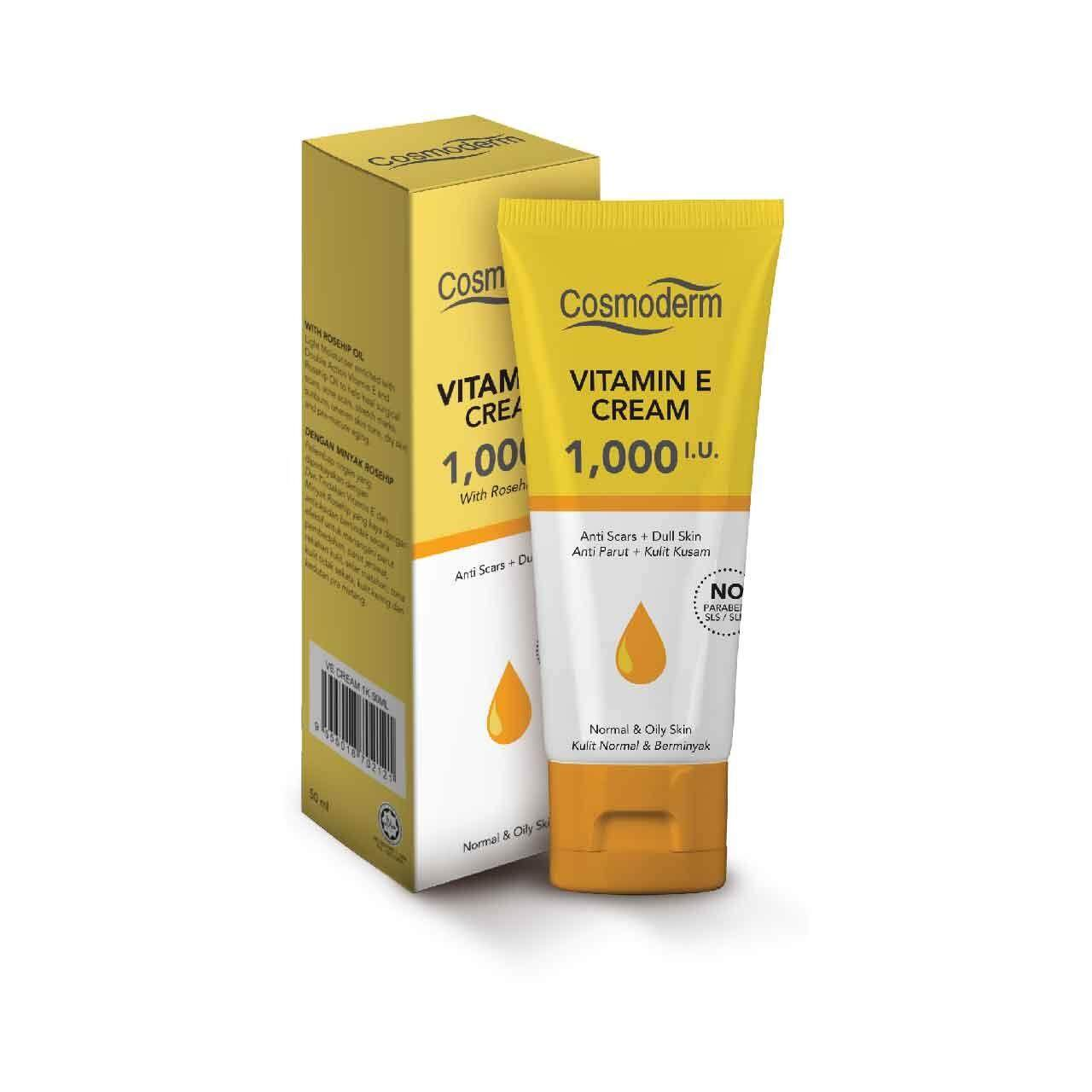 Cosmoderm Vitamin E Cream 1000 IU 50ml