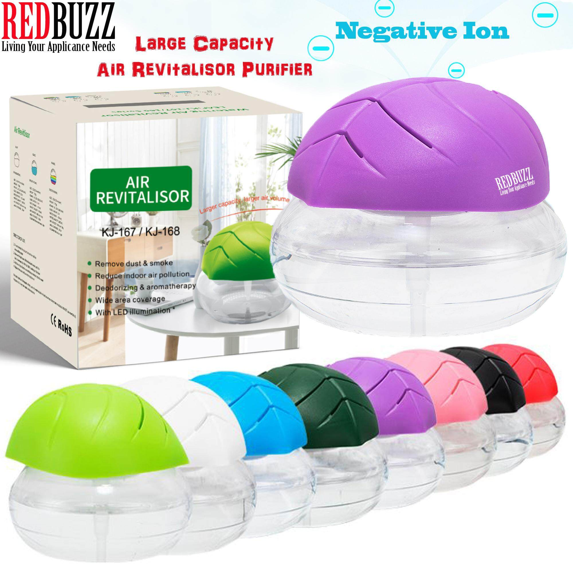 REDBUZZ Large Capacity Watering Air Revitalisor Air Purifier Aroma Diffuser with LED light + Free 15ML Essential Oil