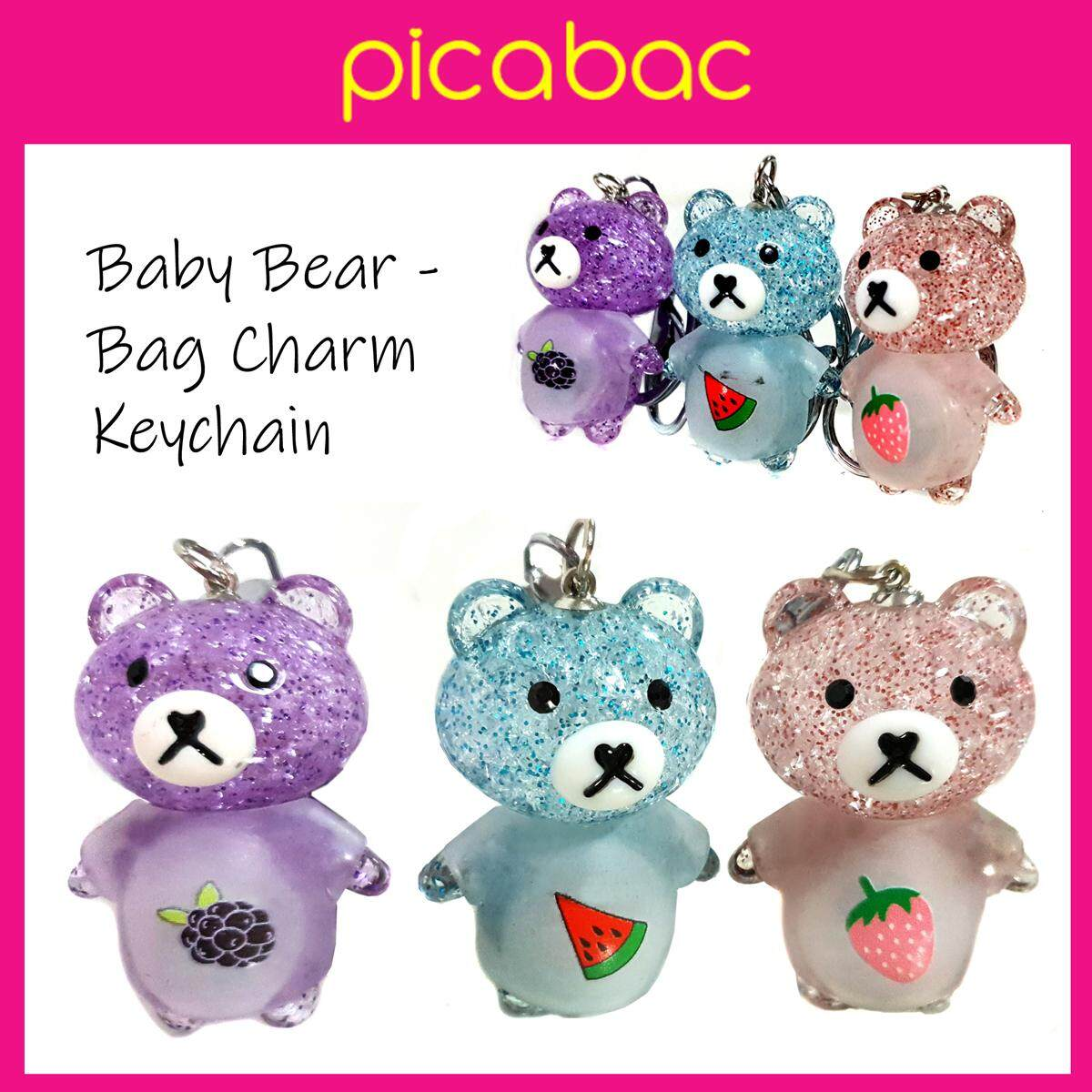 Picabac Cute Baby Bear Bag Charm Keychain with light PACBC-BEAR01