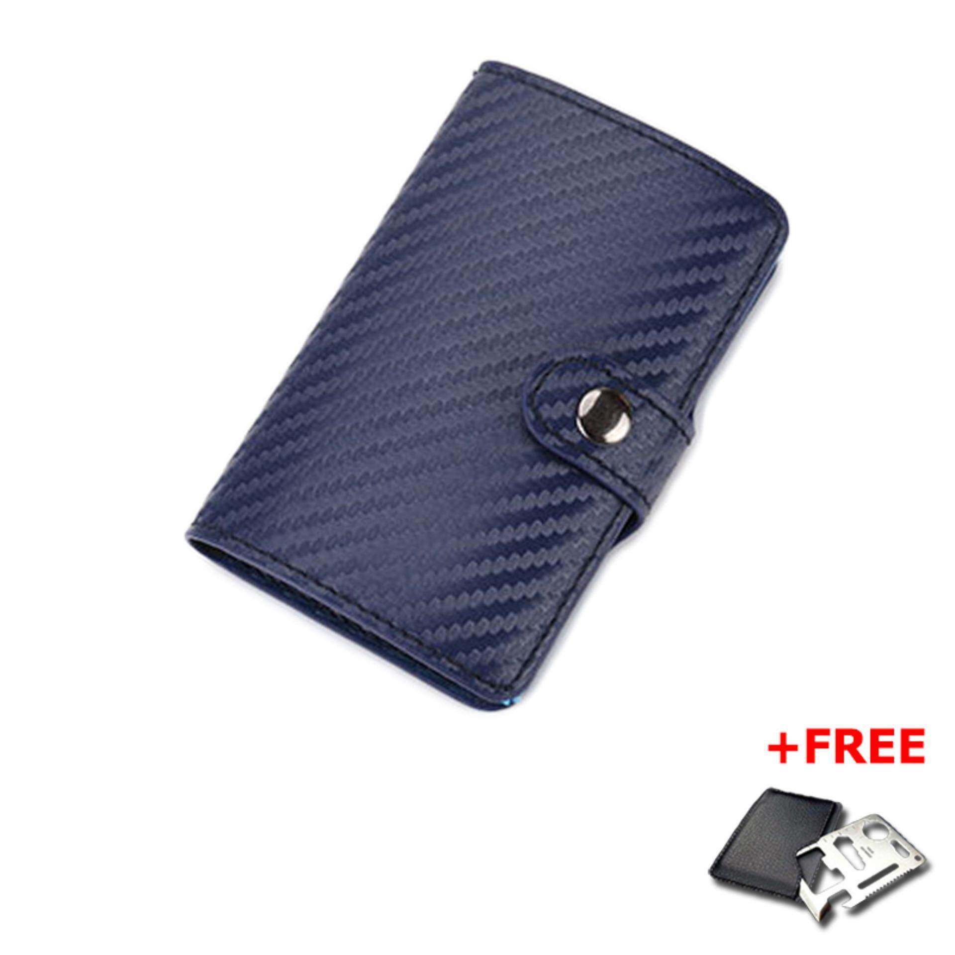 Slim Carbon Fiber Credit Card Holder RFID Non-scan Metal Simple Wallet Money Case Card Organizer MI3184