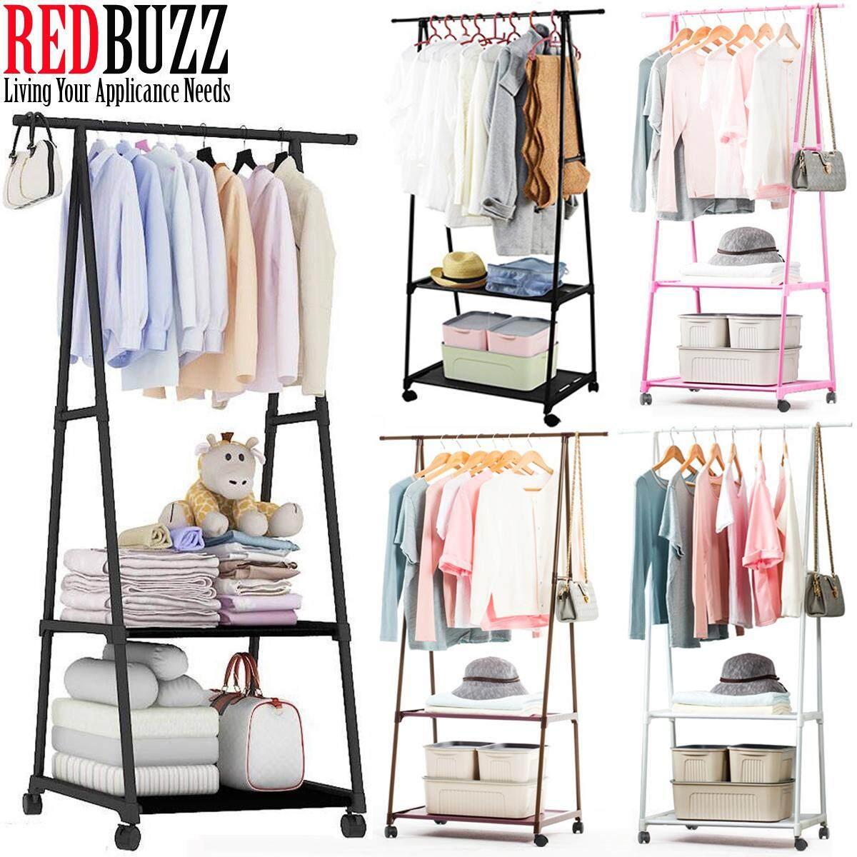 REDBUZZ Metal Clothes Rack Cloth Rack Hanging Organizer Drying Rack