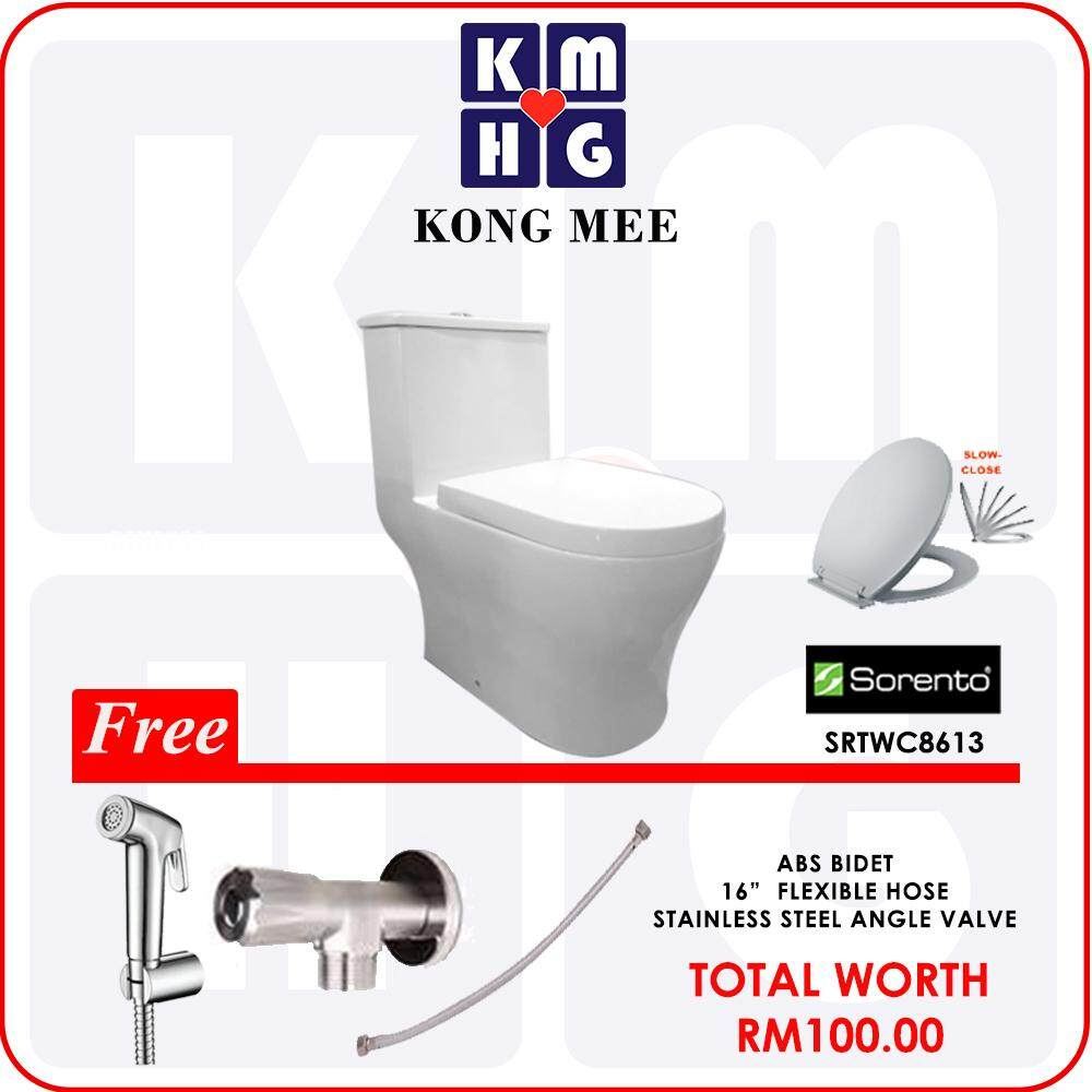 Flaming Promotion E (25 yrs Warranty Sorento Double Bowl Kitchen Sink + Sorento Double Pillar Sink Tap + Tagpin S/S Dish Rack) by KONGMEE