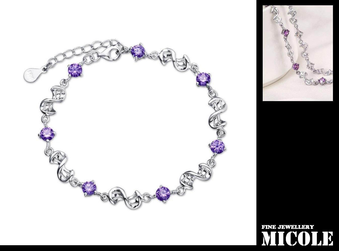 Ready Stock MICOLE B6009 Bracelets Charms Ladies Fashion Charm Bracelet