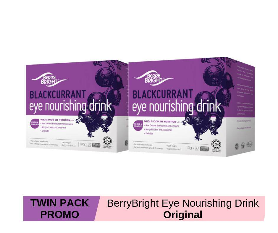 Berry Bright Eye Nourishing Drink, 60 Sachets (60-Day Supply) Natural Health Eyes and Vision Supplement with Lutein Zeaxanthin Anthocyanin Eyebright and High Vitamin C