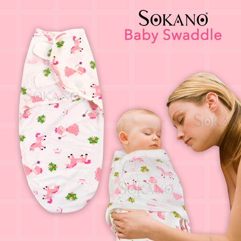 SOKANO Baby Swaddle Baby Cute Cartoon Cotton Soft Blanket Kain Bedung Kain Selimut Kain Tuala 0 - 6 months