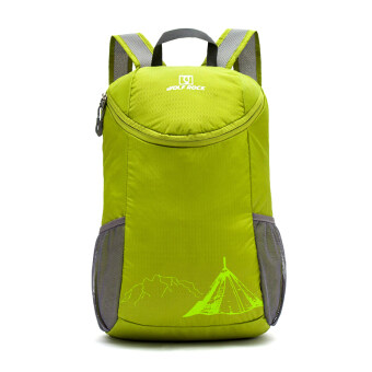 20L Wolfrock Foldable Waterproof Backpack Hiking Bag Camping Travel Sport Pack 0907(Green)