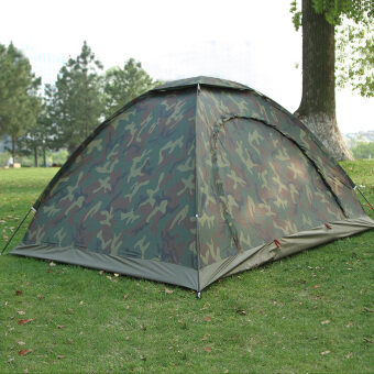 Couple's outdoor double single person camouflage tent camping tent