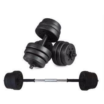 SellinCost Top Grade Bumper Plate Rubber Dumbbell 20kg with 10cm barbell converter