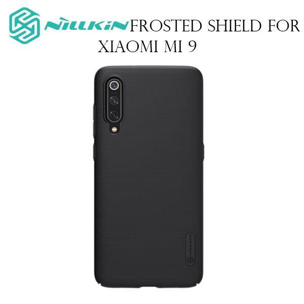 Nillkin Super Frosted Shield PC Plastic Matte Back Cover Case for Xiaomi Mi 9 (Black/Gold)