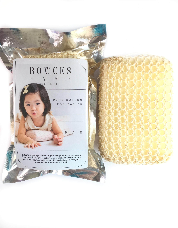 ROWCES BAE Korea Baby Loofah Bath Sponge and Bath Pad