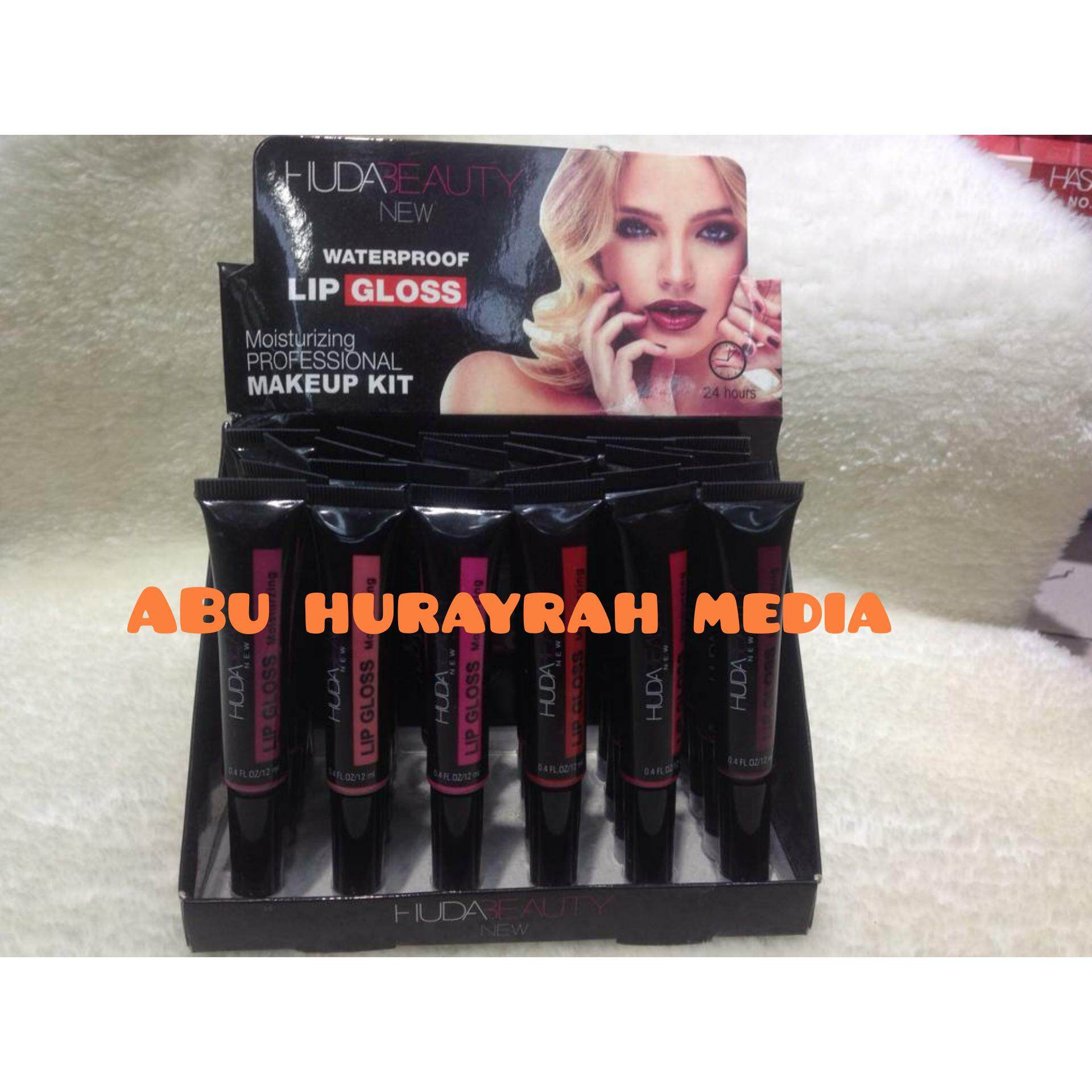 Huda Lip Gloss (6 IN 1) Waterproof (Tube)