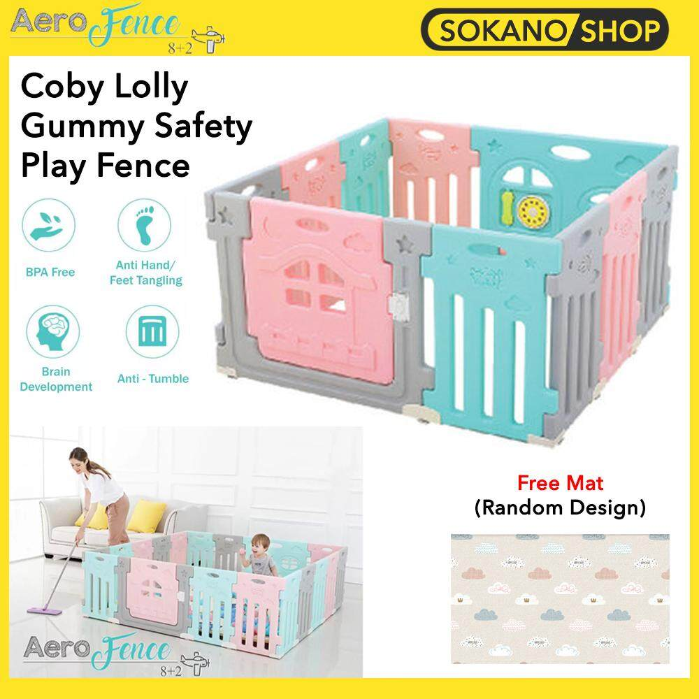 (Bundle) Coby Lolly Gummy Fence 8+2 Panels + [PARKLON] Pure PVC Soft Mat (Random Design)